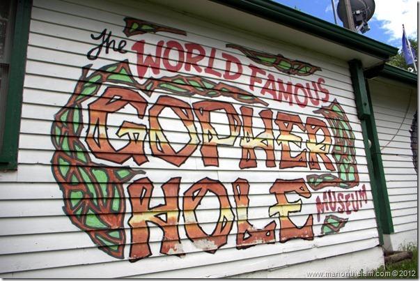 World Famous Gopher Hole Museum, Torrington Alberta Canada