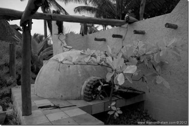 outside pizza oven -- Abandoned Beach Resort, Club Maeva Tulum, Xpuha, Riviera Maya, Mexico 171