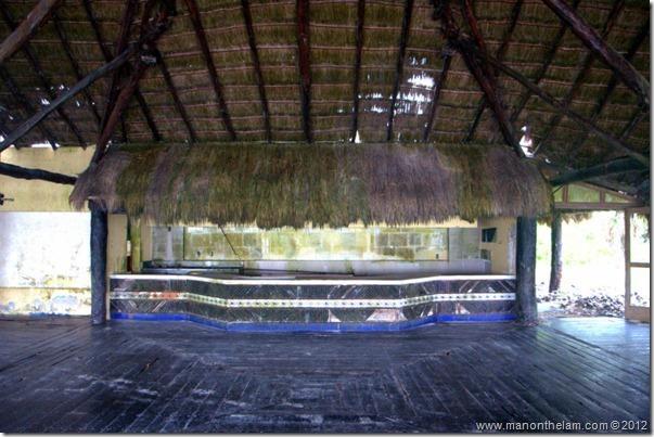 deserted restaurant -- Abandoned Beach Resort, Club Maeva Tulum, Xpuha, Riviera Maya, Mexico178