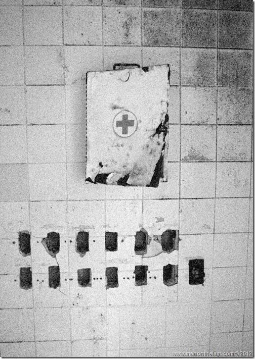 broken first aid kit -- Abandoned Beach Resort, Club Maeva Tulum, Xpuha, Riviera Maya, Mexico 185