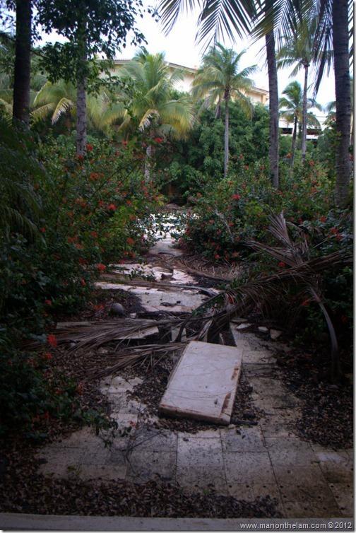 overgrown pathway -- Abandoned Beach Resort, Club Maeva Tulum, Xpuha, Riviera Maya, Mexico227