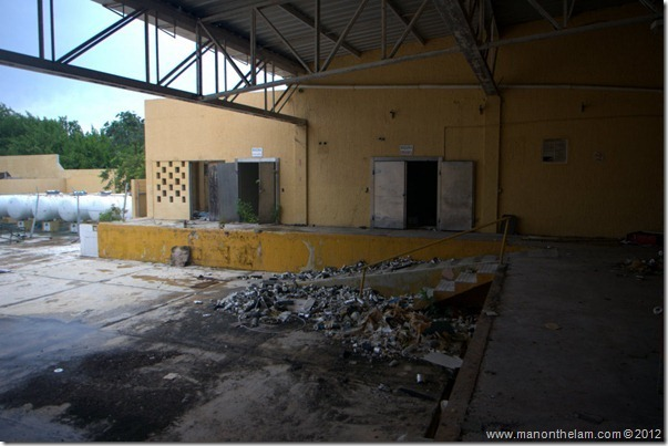 deserted loading dock -- Abandoned Beach Resort, Club Maeva Tulum, Xpuha, Riviera Maya, Mexico 252
