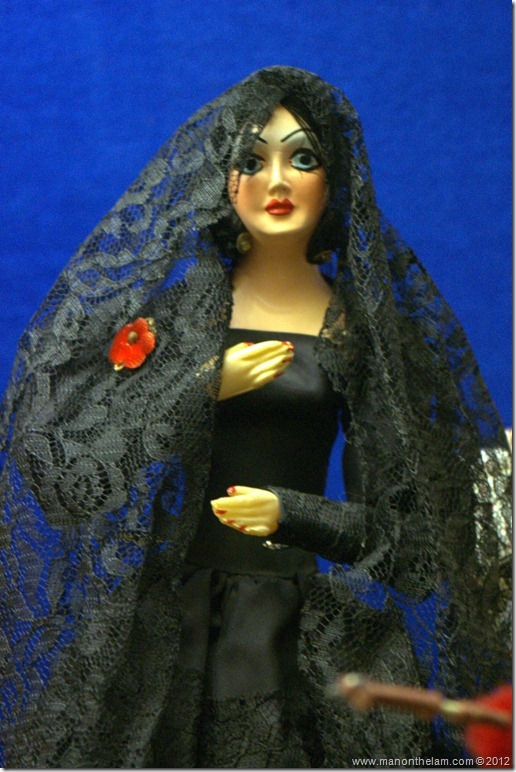 Spanish woman in black doll