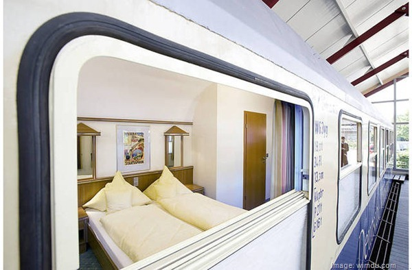 Railway Train Car accommodation, Merzen, Germany