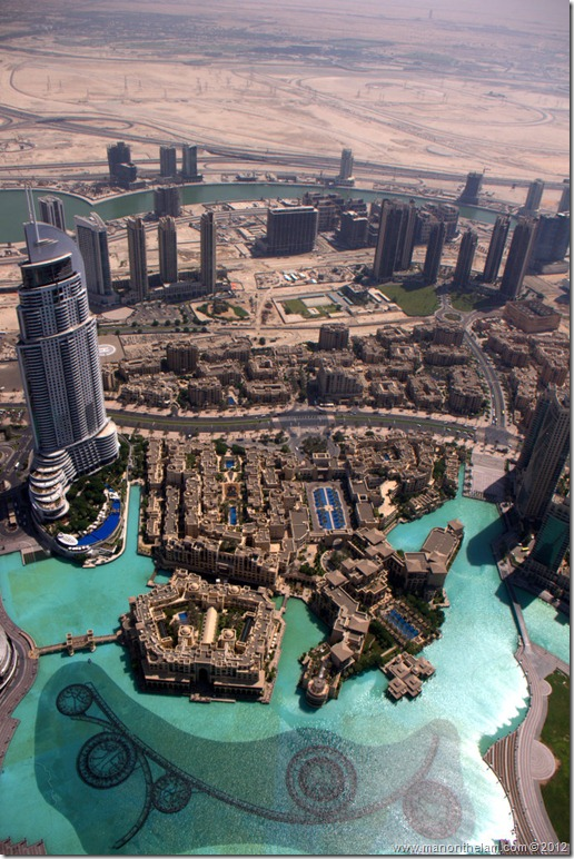 Another view from the Tallest building in the world, Burj Khalifa, Dubai, UAE
