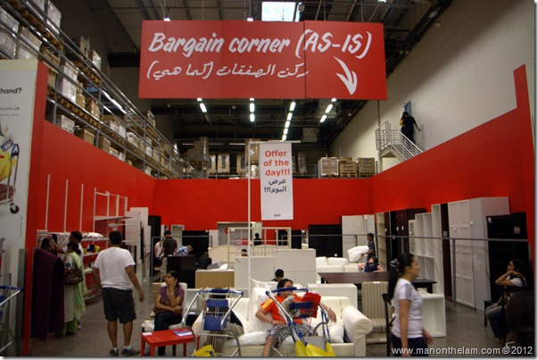 Bargain corner, As-Is, scratch and dent section, Dubai IKEA, UAE
