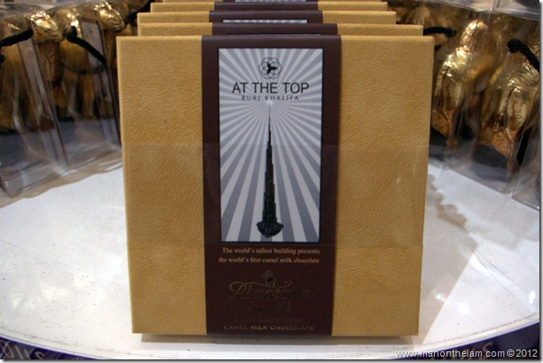 Camel milk chocolate at the Burj Khalifa gift shop