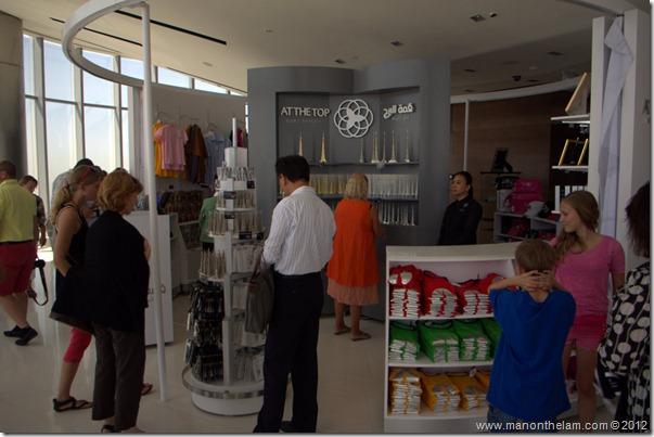 Gift shop at the top of Burj Khalifa