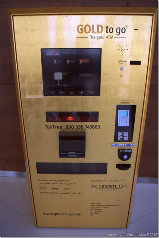 Gold to Go, Gold ATM, Burj Khalifa, Dubai, UAE
