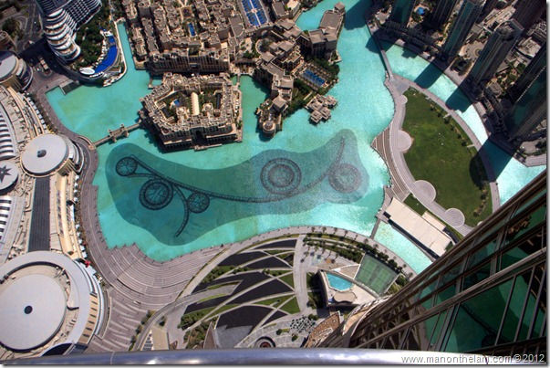 Looking straight down from the tallest building in the world