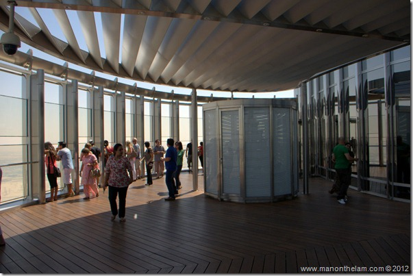 Observation platform in Tallest building in the world, Burj Khalifa, Dubai, UAE