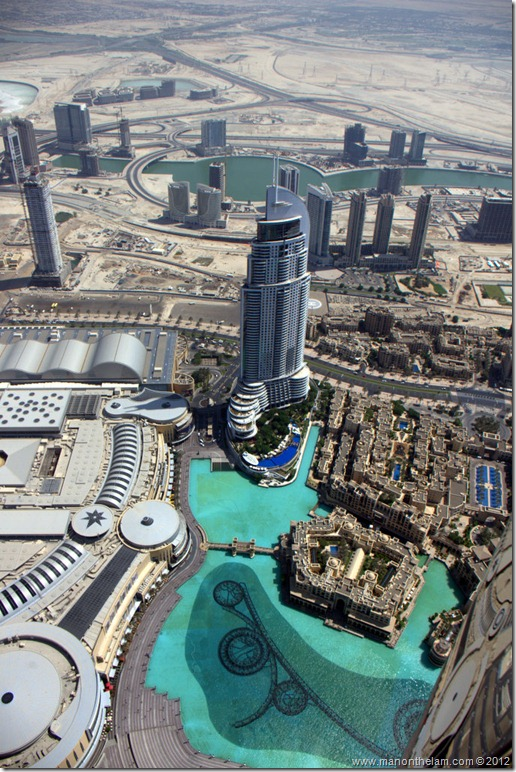 View from Burj Khalifa, Dubai, UAE
