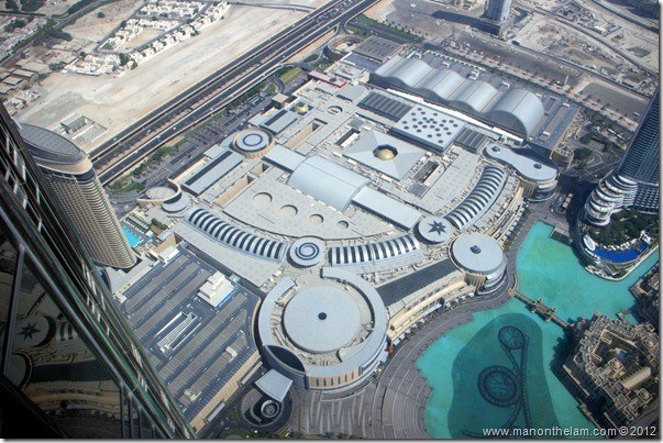 View of the largest mall in the world from iew of the largest mall in the world, Dubai Mall, from Tallest building in the world, Burj Khalifa, Dubai, UAE