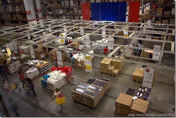 Warehouse outlet shopping, Dubai IKEA, UAE