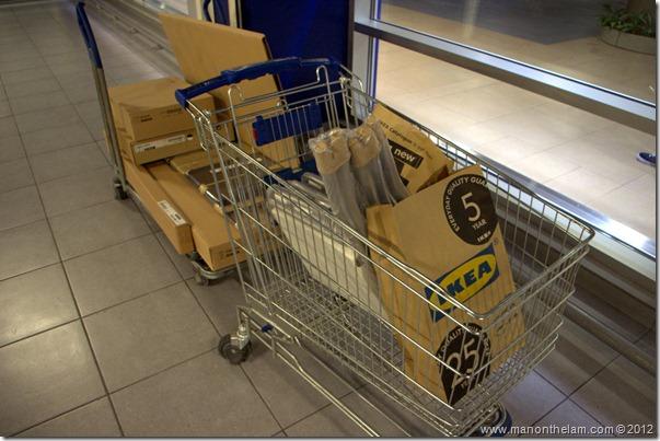 shopping carts Dubai IKEA, shopping in Dubai, United Arab Emirates