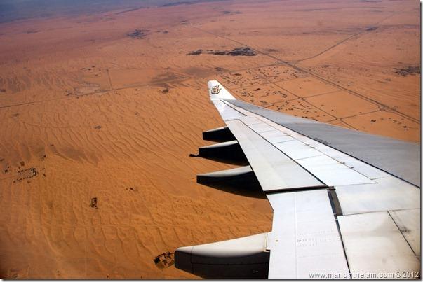 Emirates Airlines, flight from Muscat, Oman to Dubai, UAE