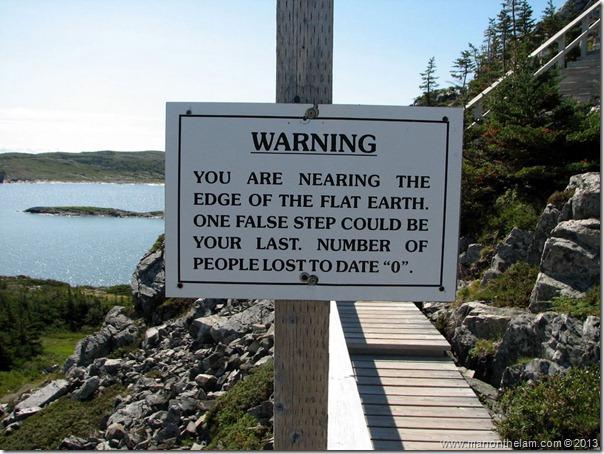 Flat Earth Sign, Fogo Island, Newfoundland