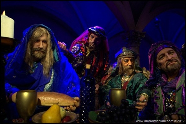 Jesus and disciples at the Last Supper Christus Wax figures Holy Land Experience Orlando Florida1