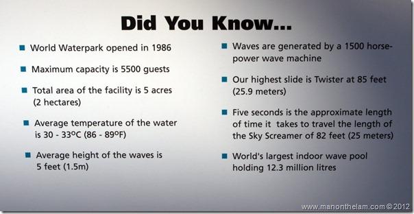West Edmonton Mall Waterpark facts