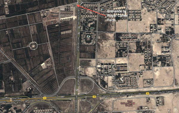 Map and directions to Janabiya Royal Camel Farm Bahrain
