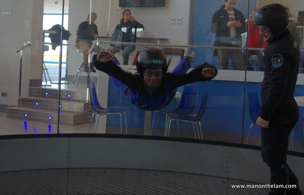 April D. Thompson, wind tunnel, indoor skydiving, Windoor Realfly Girona Spain 046