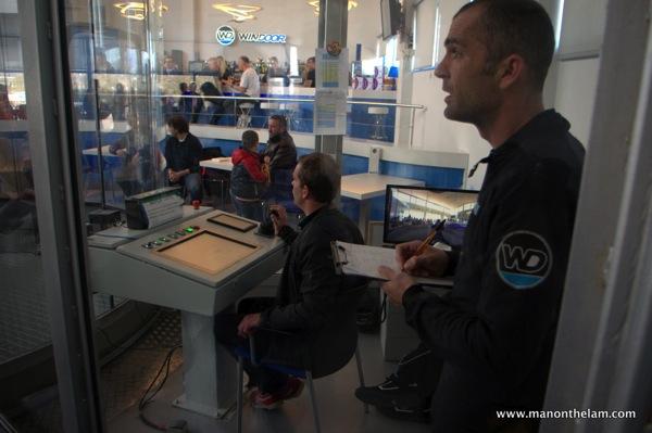 Windoor Realfly Girona Spain control room wind tunnel indoor skydiving