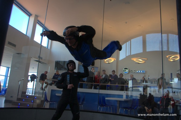 Wind tunnel, indoor skydiving, Windoor Real Fly, Empuriabrava, Spain RIchard Calvin, CharmingVillas.net