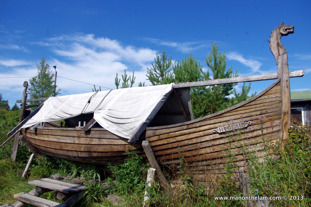 Viking funeral ship, Rosala Viking Centre, #VisitFinland