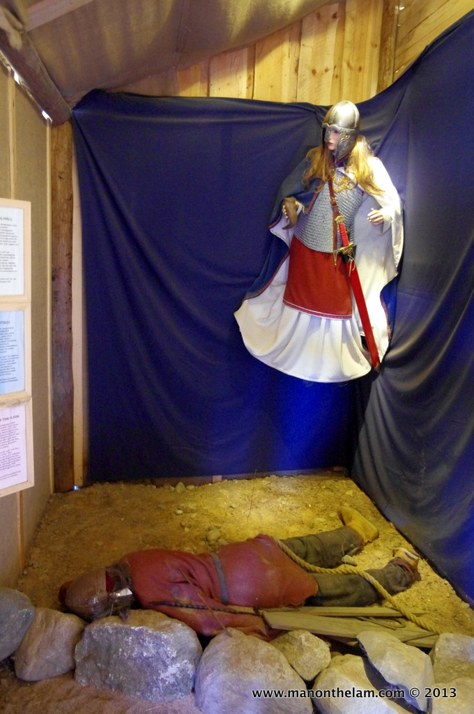 Valkyrie and Viking solider, Rosala Viking Centre, #VisitFinland, Viking Quiz