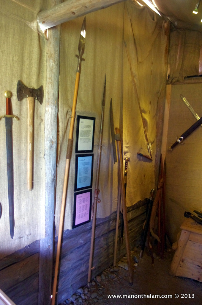 Viking weapons, Rosala Viking Centre, Rosala #VisitFinland