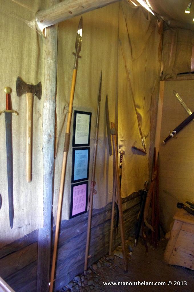 Viking weapons, Rosala Viking Centre, Rosala #VisitFinland