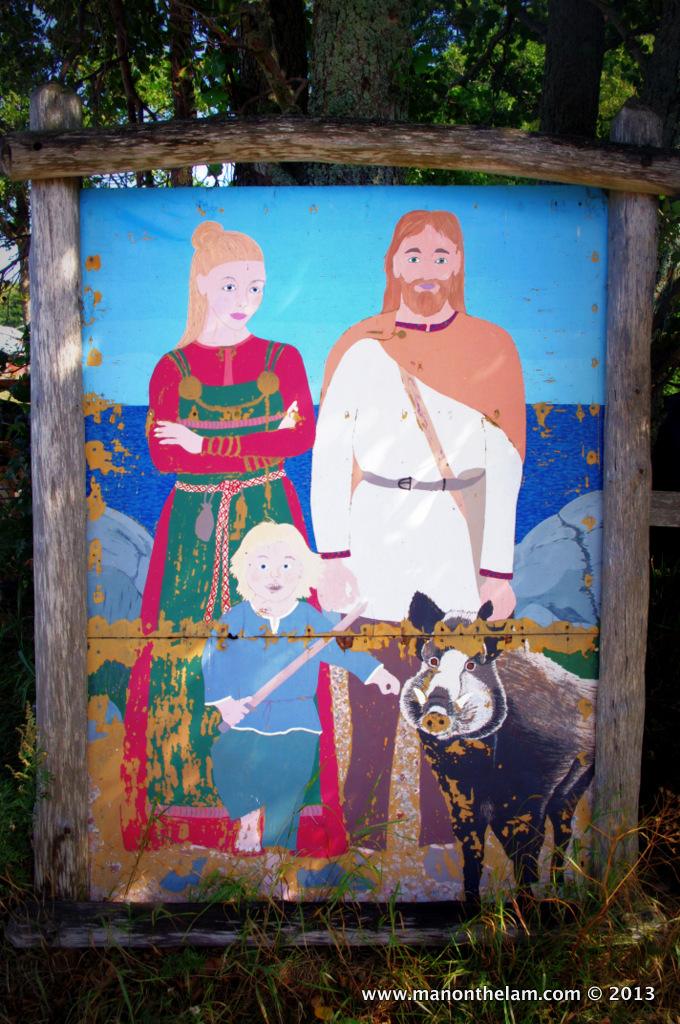 Viking painting, Rosala, Finland