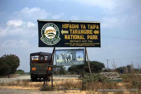 Tarangire National Park sign