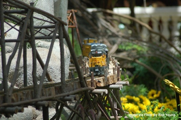 Miniature train at Conservatory and Botanical Gardens Las Vegas Nevada