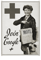 vintage newsboy 1920s Google+ social media icon manonthelam