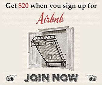 Get $20 when you sign up for Airbnb