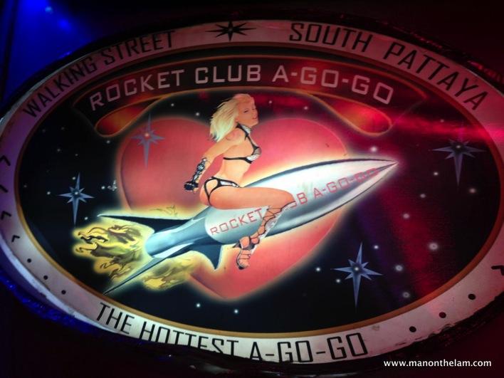 Rocket Club A Go Go Ping Pong Show with Thai Girls Walking Street Pattaya Thailand