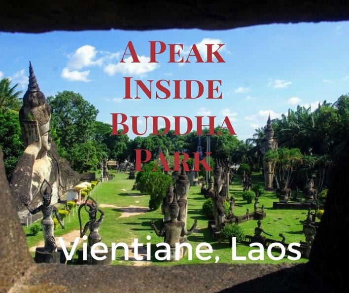Buddha park vientiane laos social media